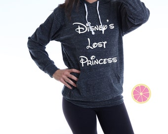 Disney's Lost Princess Hoodie. disney hoodie. Princess hoodie. Light Weight Hoodie. Made by Pinklemonadeaapparel.