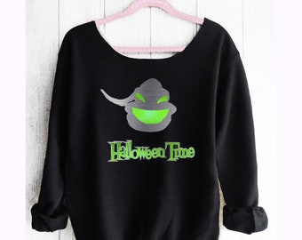 DISNEY HALLOWEEN TIME.Off shoulder sweatshirt. Oogi Boogie sweatshirt. Disney sweater. Disney halloween. Made by Pinklemonadeapparel