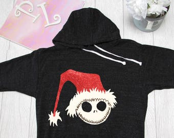 Jack Christmas  Hoodie The nightmare before Christmas hoodie. Christmas. Pink Lemonade Hoodie. Light Weight Hoodie. Made by Pinklemonade.net