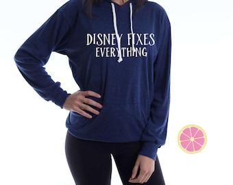 Disney fixes everything Hoodie.Disney  Hoodie. Lightweight  Hoodie. Made by Pinklemonadeapparel.