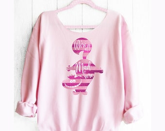 Cheshire Cat Sweatshirt. Off shoulder sweatshirt. Alice in Wonderland sweatshirt. Disney sweater. Made by Pink lemonade apparel.