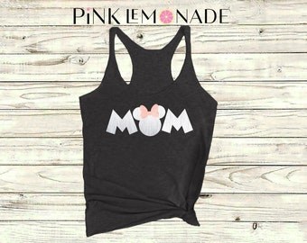 Minnie. Mama Mouse. Mom Minnie Tank top. Minnie inspired Racerback Tank top.Mother's Day Gift. Disney shirt made by Pink Lemonade Apparel