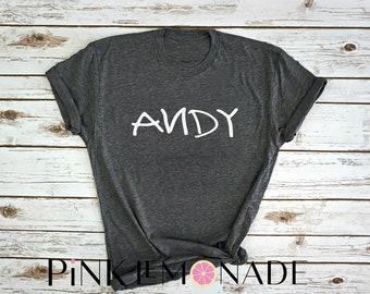 Andy shirt- Toy story shirt- Womens Disney Shirt. made by Pink Lemonade Apparel