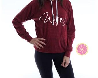 Wifey hoodie. Pink Lemonade Hoodie. Light Weight Hoodie. Made by Pinklemonade.net