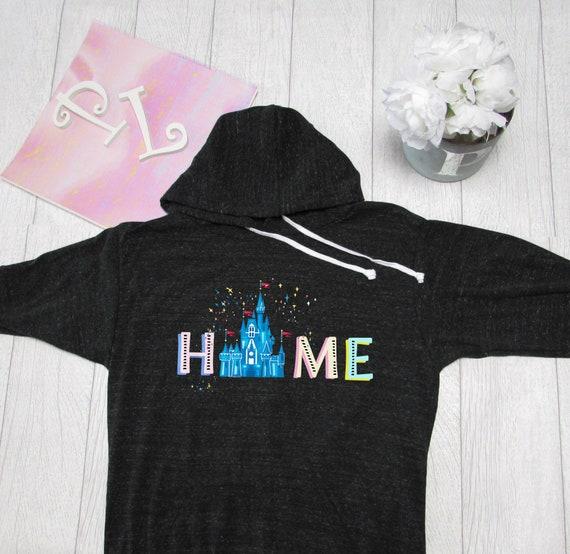 Made by Pinklemonade.net Disney castle Theme Park inspired  Light Weight Hoodie Disney Hoodie.Disney Home  Hoodie