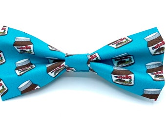 Nutella - Pet Bow tie - neck tie - dog - cat bow tie - dog bow tie - food bow tie - hazelnut - Nutella love - chocolate - stitches and sass