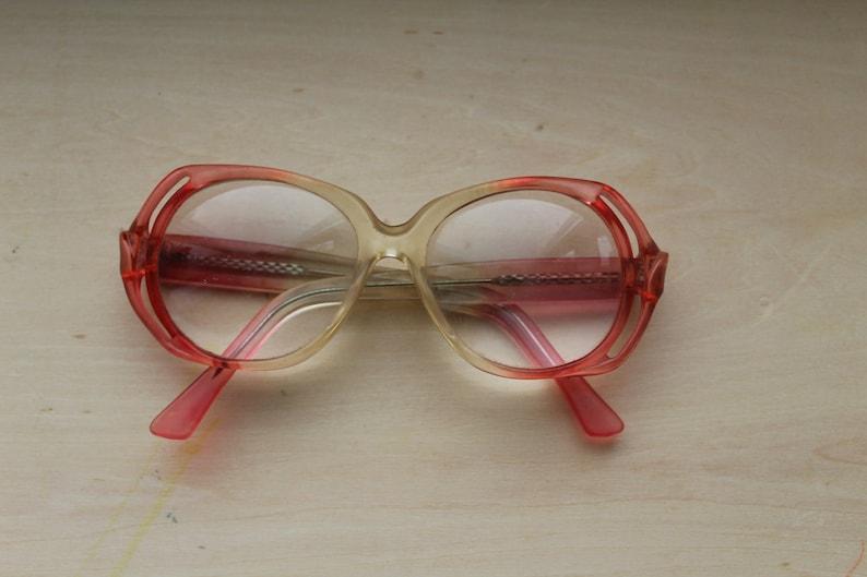 d494a53a627 Vintage Round Frames Pink Glasses Grandma Eyewear Tortoise