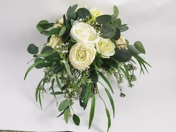 Silk Wedding Bouquet Cascading Wedding Bouquet Bridal Etsy