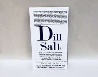 Dill Salt - Seed Packet Style Envelope