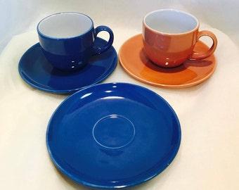 Espresso/Tea/Coffee Cups & Saucers - Set of 2