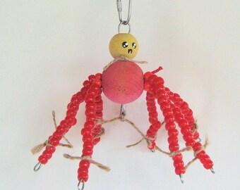 SpiderBuddie Jr. Bird Toy for Small to Medium Birds / Bird Chew Toy / Colorful Bird Toy / Parrotlet  Toy / Lovebird Toy / Conure Bird Toy