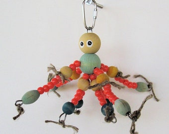 OctoBuddie Jr. Toy For Small to Medium Birds / Chewable Bird Toy / Safe Bird Toy / Budgie Toy / Parrotlet Toy / Cockatiel Toy / Conure Toy