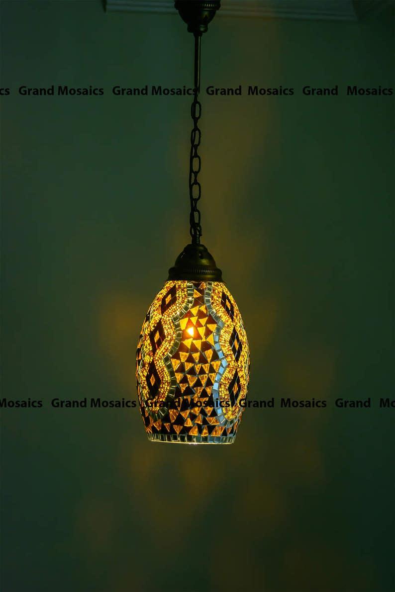 PendelleuchtenWandbehangDeckenleuchteHochzeit LampenTürkische BeleuchtungModerne Lampe Minimalistische Mosaik YEHD29WI