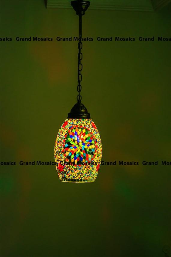 Hängelampe Hängen PendelleuchteHängelampeMosaik Lampe LampeModerne MosaikTürkische LampenDesign LeuchteDecke D2EIH9