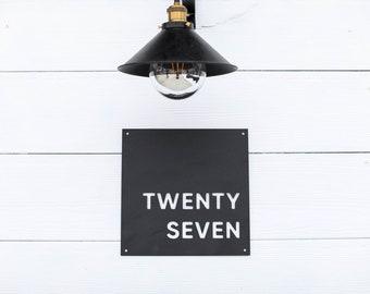 Metal Address Sign - house number - modern home - minimalist house number - metal house numbers - modern farmhouse