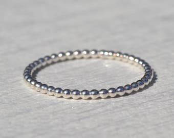 Sterling Silver Bobble Stacking Ring, Stacking Ring, Stacking Rings, Stackable Ring, Stacking Ring Set, Stack Rings, Rings, Gifts for Her,