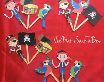 Pirate Theme Cupcake Toppers