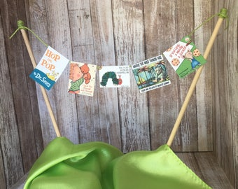 StoryBook Theme Bunting Cake Topper