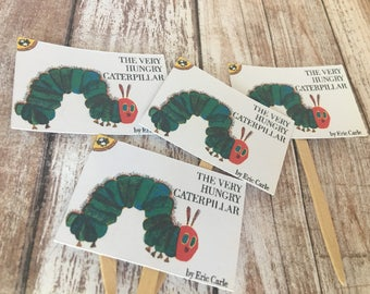 The Very Hungry Caterpillar Story Book Cupcake Toppers