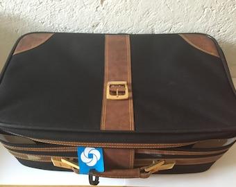 2 luggage Samsonite fabric & leather