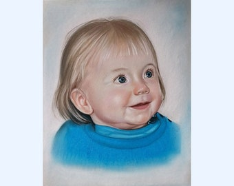 Custom portrait from photo, family portrait,kids portrait, according to your personal photo template, custom portrait, hand painted