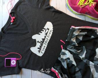 I Run This Town, Seattle, Women's Running V Neck T shirt