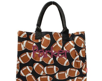 Personalized football tote