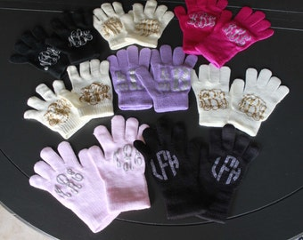 Personalized Gloves Monogrammed gloves