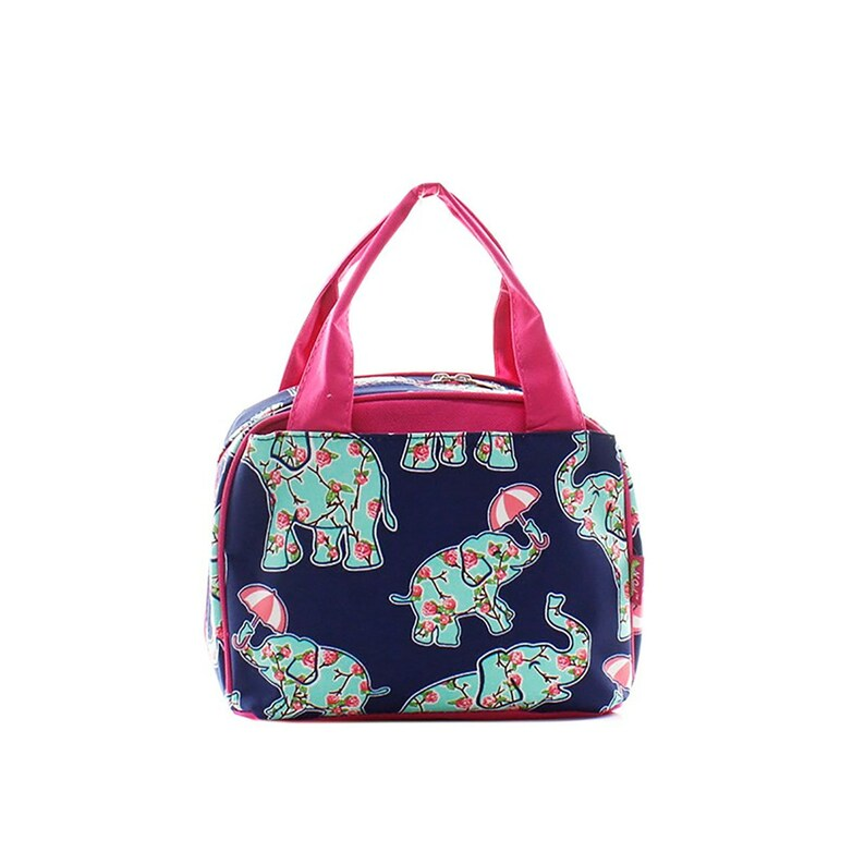 Elephant Lunch Bag  rosey Elephant lunch tote valentines day image 0