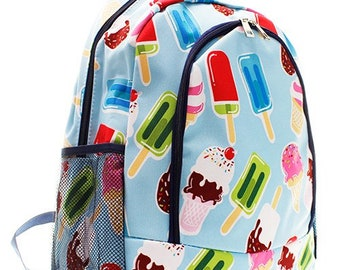 Personalized Ice Cream backpack gifts for kids monogram book bag ice cream gifts ice cream bag travel bag