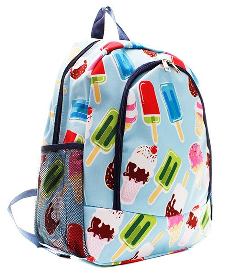 Personalized Ice Cream backpack gifts for kids monogram book image 1