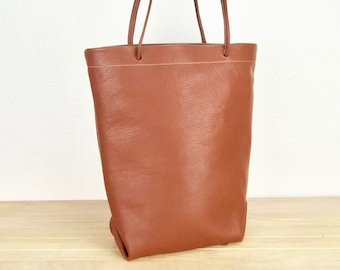 6187abaaa Brown leather women's tote bag, brown leather shoulder bag for women,  everyday brown leather purse