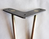 Brass Hairpin Leg (One Leg). Brass Bed legs. Brass Sofa legs. Brass Cabinet legs. Bench legs Dresser Legs. Brass legs. Brass furniture legs.