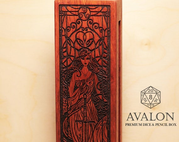 Dice & Pencil Box - Avalon - RPG, Dungeons and Dragons, DnD, Pathfinder, Table Top Role Playing and Gaming Accessories by Eldritch Arts
