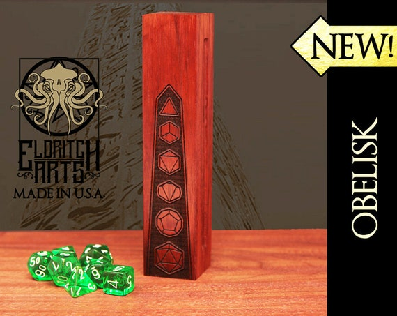 Dice Box - Obelisk - RPG, Dungeons and Dragons, D&D, DnD, Pathfinder, Table Top Role Playing and Gaming Accessories by Eldritch Arts