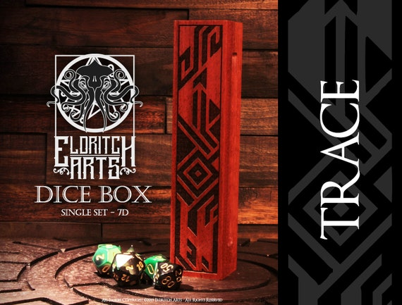 Dice Box - TRACE - RPG, Dungeons and Dragons, D&D, DnD, Pathfinder, Table Top Role Playing and Gaming Accessories by Eldritch Arts