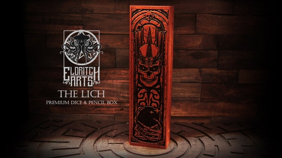 Dice & Pencil Box - The Lich - RPG, Dungeons and Dragons, DnD, Pathfinder, Table Top Role Playing and Gaming Accessories by Eldritch Arts