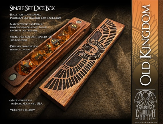 Dice Box - Old Kingdom - RPG, Dungeons and Dragons, D&D, DnD, Pathfinder, Table Top Role Playing and Gaming Accessories by Eldritch Arts