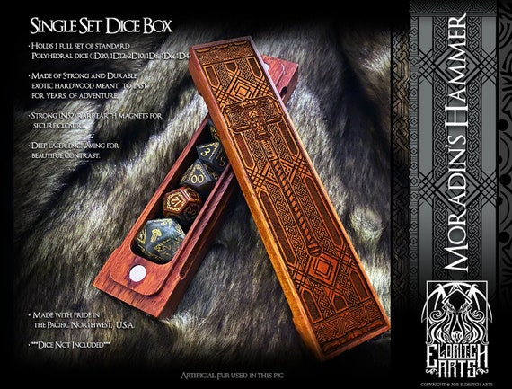 Dice Box - Moradin's Hammer - RPG, Dungeons and Dragons, D&D, DnD, Pathfinder, Table Top RPG and Gaming Accessories by Eldritch Arts