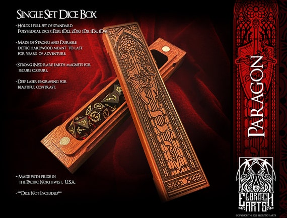 Dice Box - Paragon - RPG, Dungeons and Dragons, D&D, DnD, Pathfinder, Table Top Role Playing and Gaming Accessories by Eldritch Arts