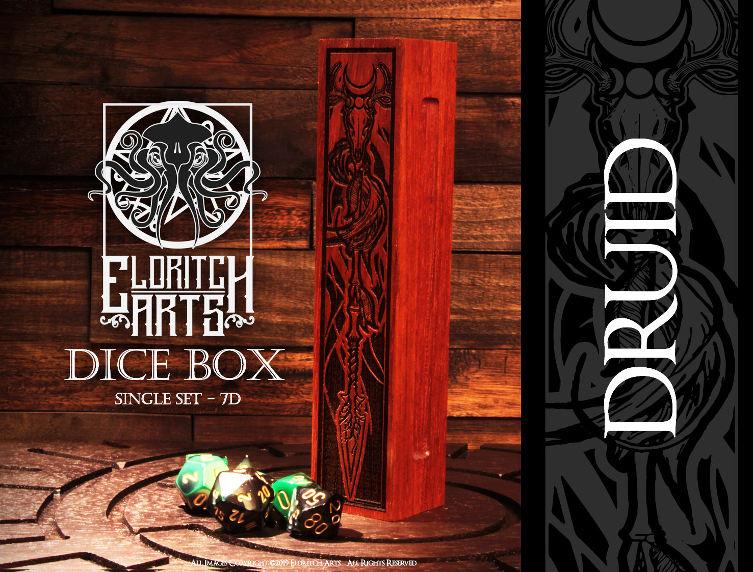 Dice Box - Druid - RPG, Dungeons and Dragons, D&D, DnD
