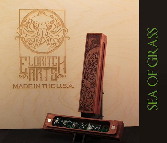 Dice Box - Sea of Grass - RPG, Dungeons and Dragons, D&D, DnD, Pathfinder, Table Top Role Playing and Gaming Accessories by Eldritch Arts