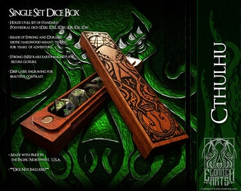Dice Box - Cthulhu -  RPG, Dungeons and Dragons, D&D, DnD, Pathfinder, Table Top Role Playing and Gaming Accessories by Eldritch Arts
