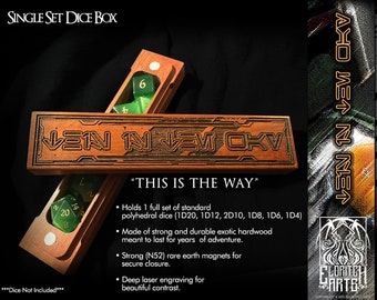 Dice Box - This Is The Way - Mandalorian - RPG, Dungeons and Dragons, D&D, Pathfinder, Table Top Gaming Accessories by Eldritch Arts