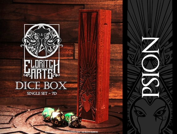 Dice Box - Psion - RPG, Dungeons and Dragons, D&D, DnD, Pathfinder, Table Top Role Playing and Gaming Accessories by Eldritch Arts