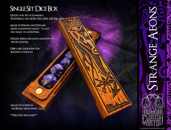 Dice Box - Strange Aeons - RPG, Dungeons and Dragons, D&D, DnD, Pathfinder, Table Top Role Playing and Gaming Accessories by Eldritch Arts