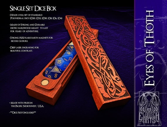 Dice Box - Eyes of Thoth - RPG, Dungeons and Dragons, D&D, DnD, Pathfinder, Table Top Role Playing and Gaming Accessories by Eldritch Arts