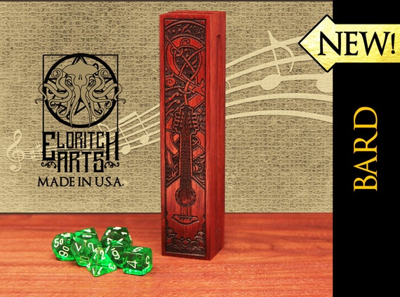 Dice Box - Bard - RPG, Dungeons and Dragons, D&D, DnD, Pathfinder, Table Top Role Playing and Gaming Accessories by Eldritch Arts