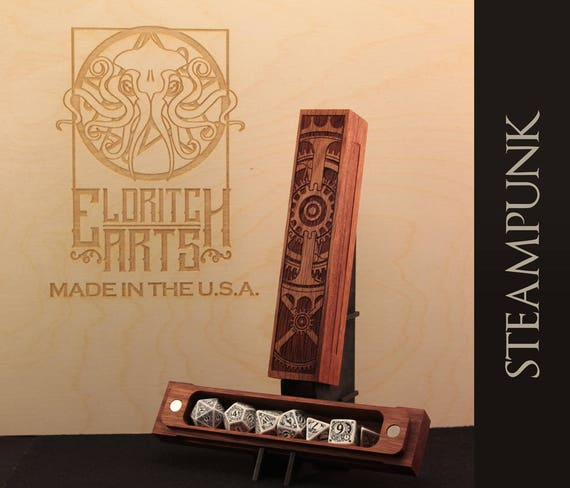 Dice Box - Steampunk  - RPG, Dungeons and Dragons, D&D, DnD, Pathfinder, Table Top Role Playing and Gaming Accessories by Eldritch Arts