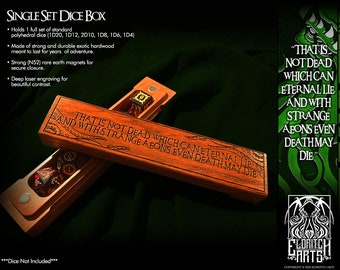 Dice Box - That Is Not Dead That Can Eternal Lie - RPG, Dungeons and Dragons, D&D, Pathfinder, Table Top Gaming Accessories by Eldritch Arts